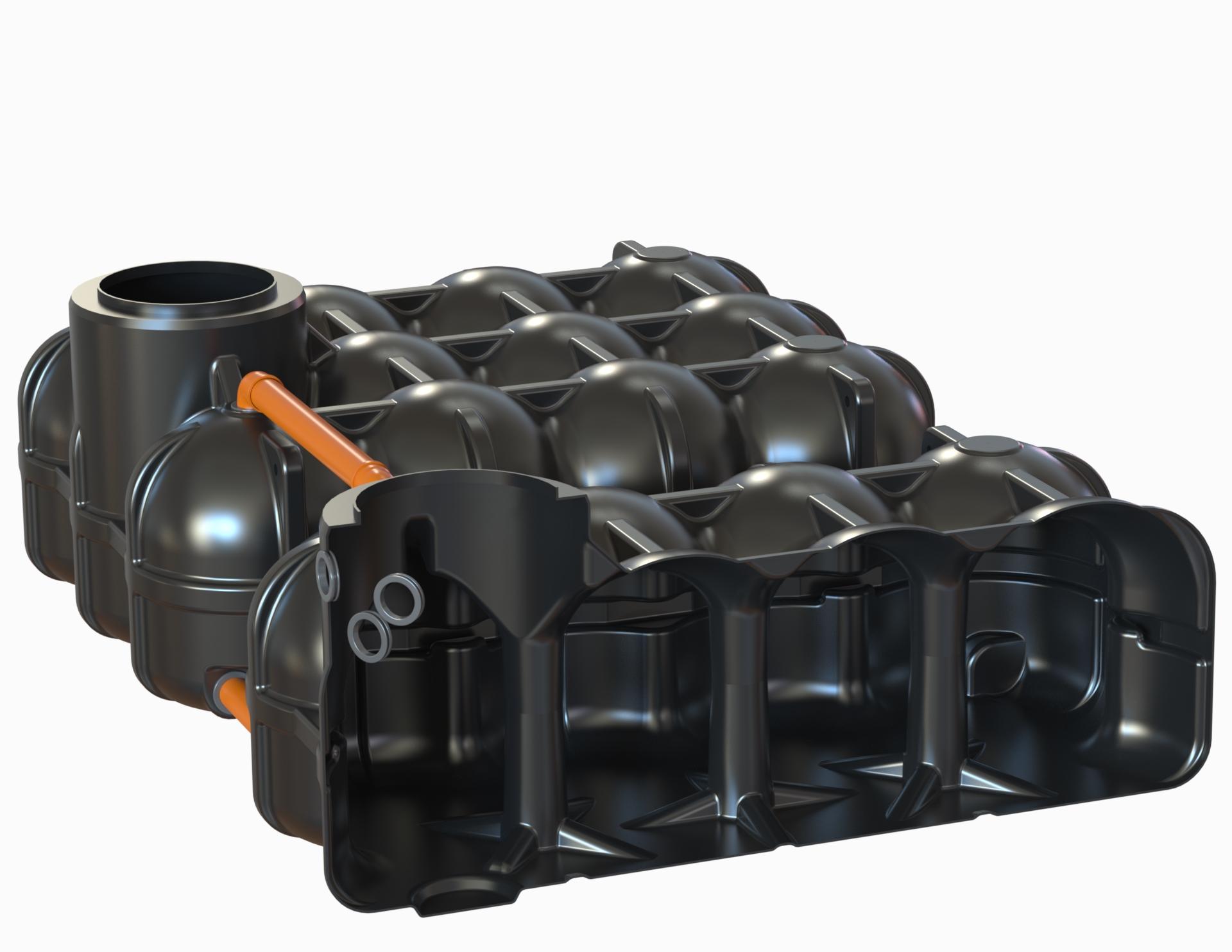Hudson Flachtank 2x 5000L als Mehrbehältervariante mit Pumpensumpf