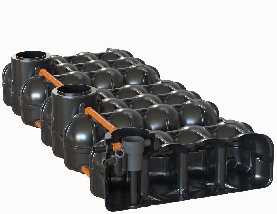 ohne PS + 1 Behälter mit vorinstallierten Hausfilter Evo Inox + Zulaufberuhiger + Überlaufsiphon mit Kleintierschutz, 2 Behälter ohne Bohrung
