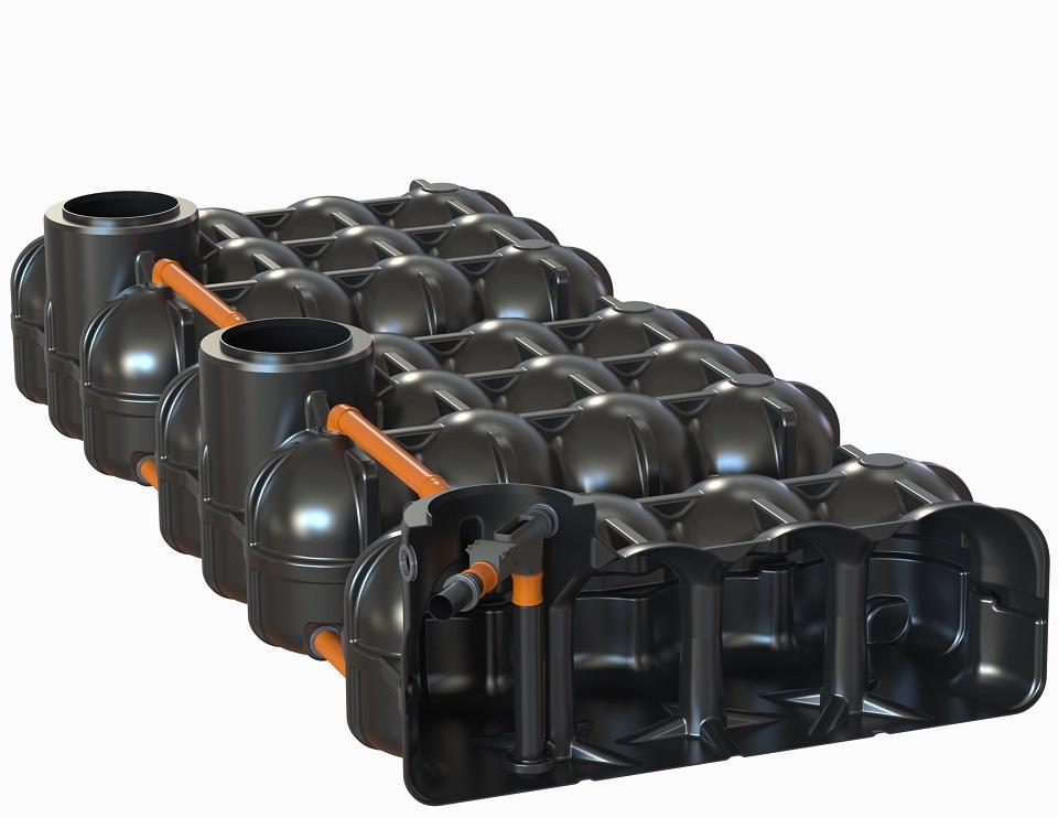 ohne PS + 1 Behälter mit vorinstallierten Wechselsprungfilter + Zulaufberuhiger + Überlaufsiphon mit Kleintierschutz, 2 Behälter ohne Bohrung
