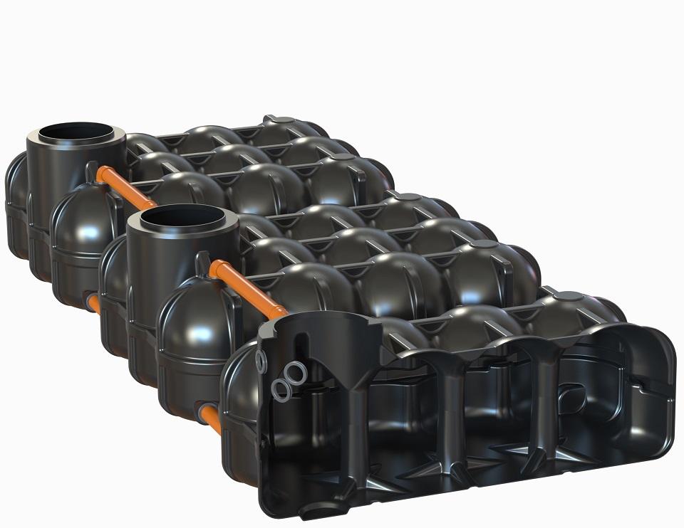Hudson Flachtank 3x 5000L als Mehrbehältervariante mit Pumpensumpf